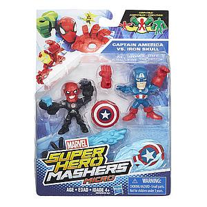 Marvel Super Hero Mashers Micro 2-Pack Action Figure - Captain America vs Iron Skull