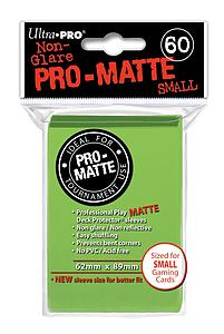 Non-Glare Pro-Matte: Lime Green Small Card Sleeves (62mm x 89mm)