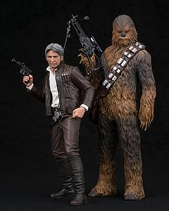ArtFX+ 2-Pack Statues: Han Solo & Chewbacca