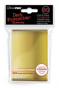 Card Sleeves 50-pack Standard Size: Solid Gold