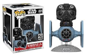 Pop! Star Wars Deluxe Vinyl Bobble-Head Tie Fighter Pilot with Tie Fighter #221