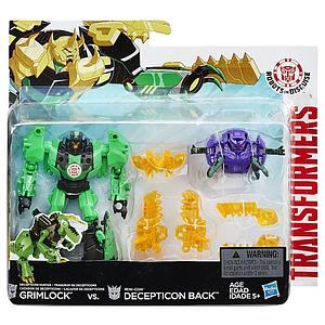 Hasbro Transformers Robots in Disguise 2-Pack Action Figures Grimlock vs. Mini-Con Decepticon Back