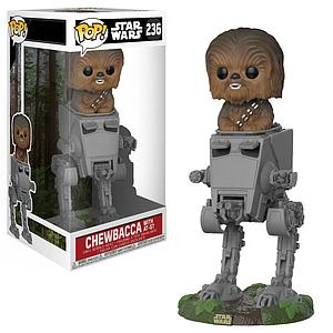 Pop! Star Wars Deluxe Vinyl Bobble-Head Chewbacca in AT-ST #236 (Vaulted)