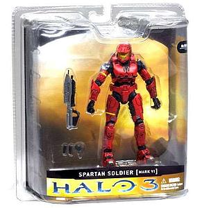 Halo 3 Series 1: Spartan Soldier Mark VI (Red)