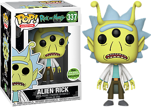 Pop! Animation Rick & Morty Vinyl Figure Alien Rick #337 2018 Spring Convention Exclusive