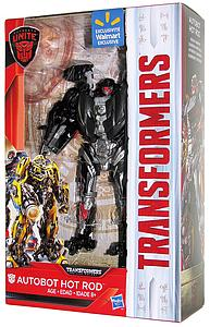 Transformers The Last Knight Autobots Unite Deluxe Class 6 Inch Autobot Hot Rod Walmart Exclusive