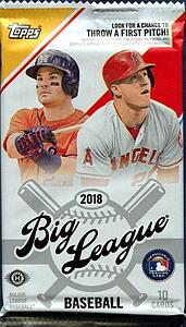 2018 MLB Big League Baseball: Booster Pack