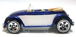 Hot Wheels Classics Series 2 Cars Die-Cast: VW Bug Convertible (Blue)