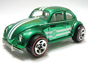Hot Wheels Classics Series 1 Cars Die-Cast: VW Bug (Green)