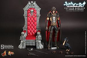 Space Pirate Captain Harlock Movie Masterpiece 1/6 Scale Figure Captain Harlock with the Throne of Arcadia