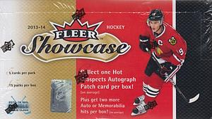 2013-14 Upper Deck NHL Trading Cards Fleer Showcase Box(15 Packs)