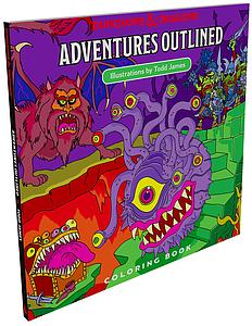 Dungeons & Dragon's Colouring Book - Adventures Outlined