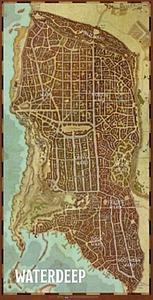 Dungeons & Dragons Roleplaying Game Waterdeep Wards: City Map