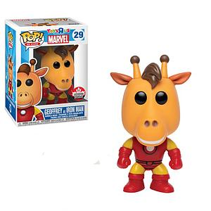 Pop! Ad Icons Toys R Us Marvel Vinyl Figure Geoffrey as Iron Man #29 2018 Canadian Convention Exclusive