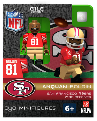 NFL Football Minifigures: Anquan Boldin (San Francisco 49ers)