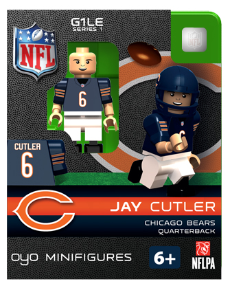 NFL Football Minifigures: Jay Cutler (Chicago Bears)