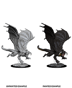 Dungeons & Dragons Nolzur's Marvelous Unpainted Miniatures: Young Black Dragon