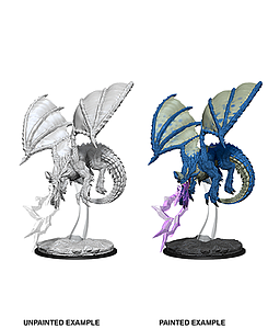Dungeons & Dragons Nolzur's Marvelous Unpainted Miniatures: Young Blue Dragon