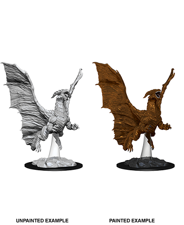 Dungeons & Dragons Nolzur's Marvelous Unpainted Miniatures: Young Copper Dragon