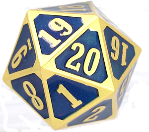 Metal MTG Roll Down Counter - Brilliant Gold/Sapphire