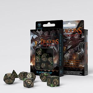 Dragons Dice Set: Botle - Green/Gold