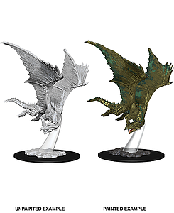 Dungeons & Dragons Nolzur's Marvelous Unpainted Miniatures: Young Bronze Dragon