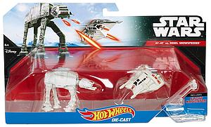 Hot Wheels Die-Cast Star Wars 2-Pack AT-AT vs Rebel Snowspeeder