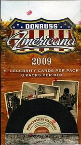 2009 Donruss Americana Blaster Box (8 Packs) Includes 1 Game Used Memorabilia or Autograph Card