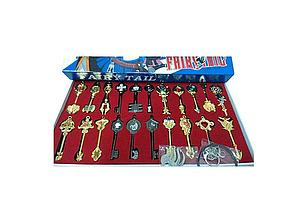 Fairy Tail 22-Piece Celestial Keychain Set