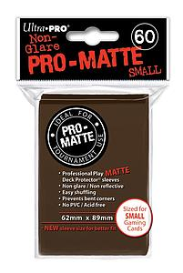 Non-Glare Pro-Matte: Brown Small Card Sleeves (62mm x 89mm)