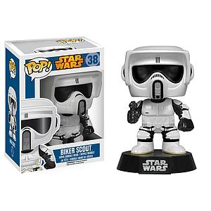 Pop! Star Wars Vinyl Bobble-Head Biker Scout Trooper #38 (Vaulted)