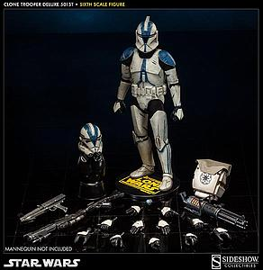 "Sideshow Collectibles Star Wars 12"" Deluxe Figure: Clone Trooper 501st"