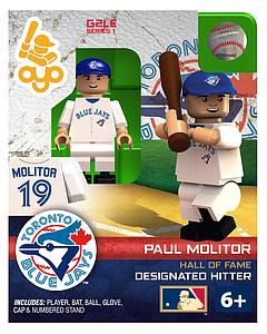 OYO Toys MLB Generations OYO Building Brick Minifigure: Paul Molitor Blue Jersey (Toronto Bluejays)