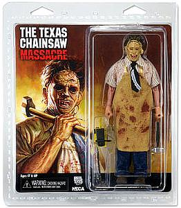 "Texas Chainsaw Massacre 40th Anniversary Retro 8"" Clothed Figure Leatherface"
