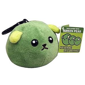 Mameshiba Clip-On Plush: Green Pea
