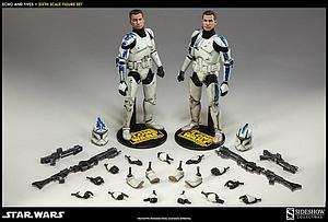 Sideshow Collectibles 1/6 Scale Star Wars Figure: Clone Troopers Echo & Fives