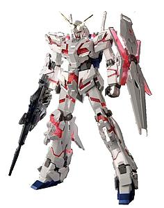 Gundam High Grade Universal Century 1/144 Scale Model Kit: RX-0 Unicorn Gundam (Destroy Mode) Titanium Finish
