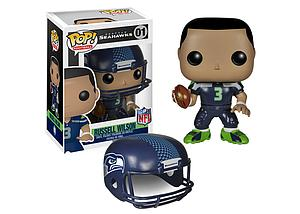 Pop! Football NFL Vinyl Figure Russell Wilson (Seattle Seahawks) #01 (Retired)