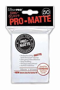 Card Sleeves 50-pack Non-Glare Pro-Matte Standard Size: White