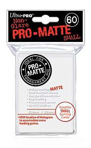 Card Sleeves 60-pack Non-Glare Pro-Matte Small Size: White
