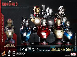 Iron Man 3 1/6 Scale Bust: Deluxe Set