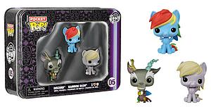 Pop! Pocket Tin Set My Little Pony Rainbow Dash Discord Derpy #05