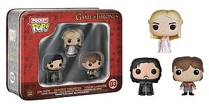 Pop! Pocket Tin Set Game of Thrones Jon Snow Daenerys Targaryen Tyrion Lannister #03