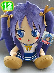 "Plush Toy Lucky Star 12"" Kagami Sitting"