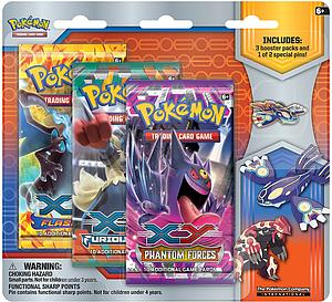 Pokemon Trading Card Game: XY Primal Reversion Collector Pin Gift Set: Kyogre