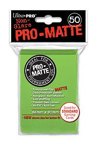 Card Sleeves 50-pack Non-Glare Pro-Matte Standard Size: Lime Green