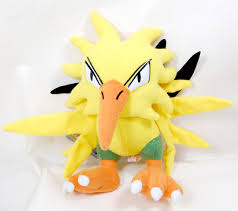 "Plush Toy Pokemon 10"" Zapdos"