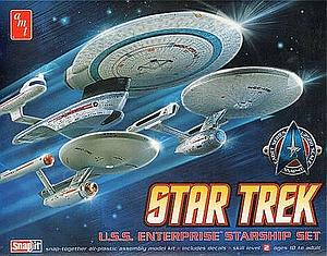 Star Trek: U.S.S. Enterprise Starship Set (3 in 1) (AMT660)