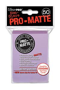Non-Glare Pro-Matte: Lilac Standard Card Sleeves (66mm x 91mm)