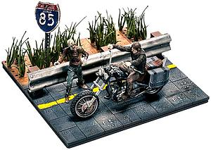 The Walking Dead Building Sets: Daryl Dixon with Chopper